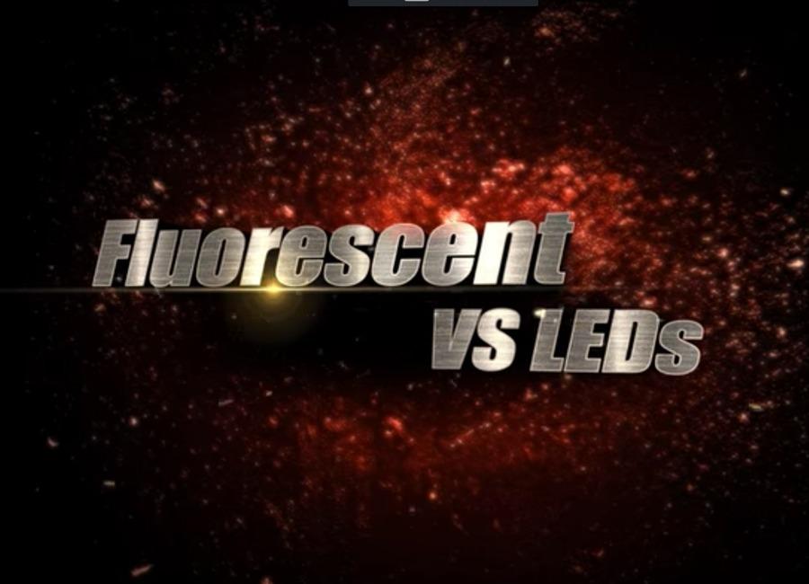 Banner: fluorescent vs LEDs