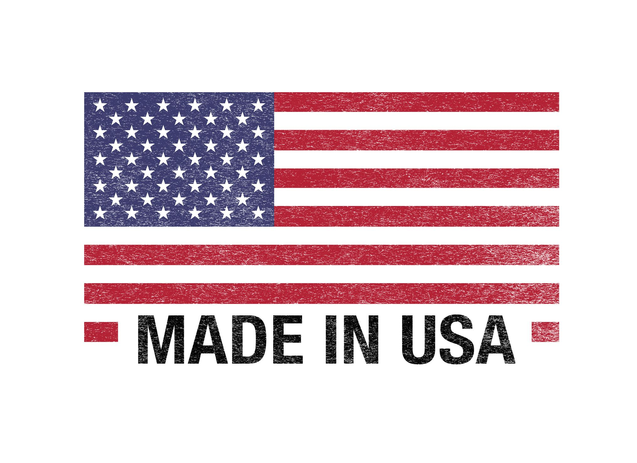 Made in USA Flag Barcode on  white background.